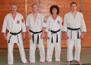 v.l.: Lothar Sieber, Thorsten Preiß, Hannelore Sieber, Marcel Davidsohn