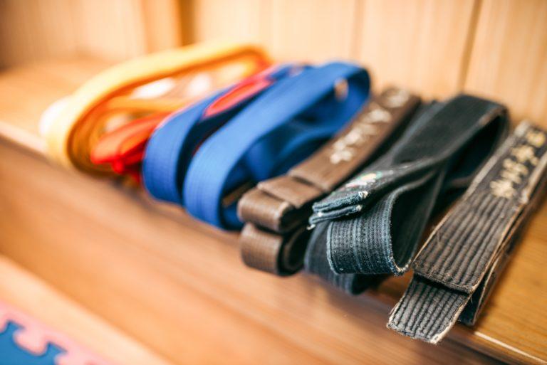 Martial arts, brown, orange, blue and black belts